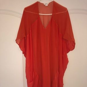 Helmut Lang coral dress size L
